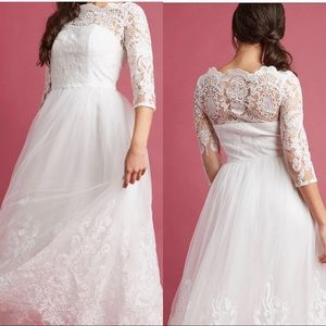 Modcloth White Maxi Lace Gown Super RARE!